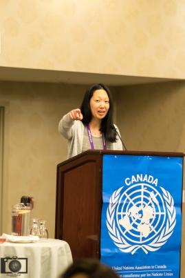 UNA-Vancouver Co-President, Courtney Szto.