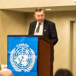 UNA-Vancouver VP, George Somerwill.