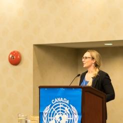 UNA-Vancouver Co-President, Tanya Smith.